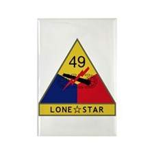 Lone Star Rectangle Magnet
