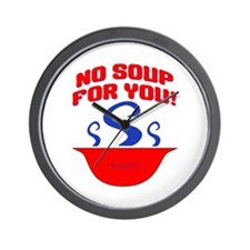 No Soup For You Seinfieild Wall Clock