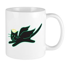 Black Angel Kitty Mug