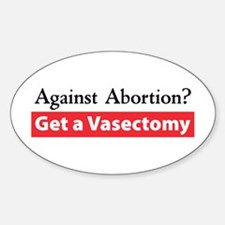 Get a Vasectomy Oval Decal