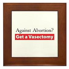 Get a Vasectomy Framed Tile