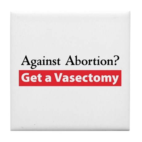 Get a Vasectomy Tile Coaster