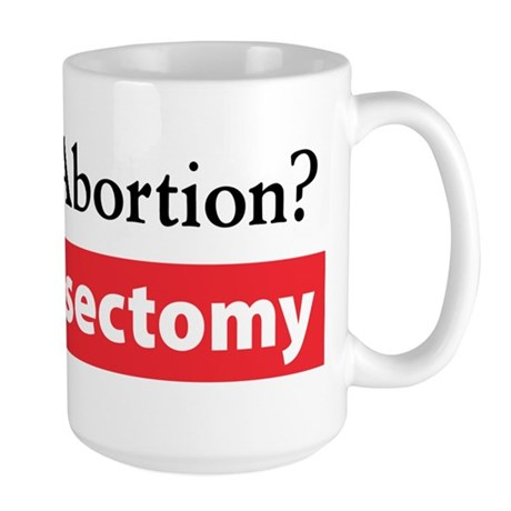 Get a Vasectomy Large Mug