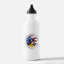 9-11 fireman firefighter Water Bottle