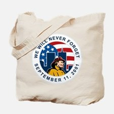 9-11 fireman firefighter Tote Bag