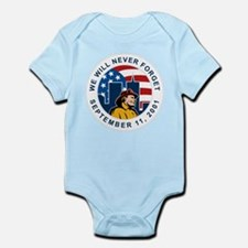 9-11 fireman firefighter Infant Bodysuit