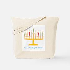 Veggie Hanukkah Tote Bag