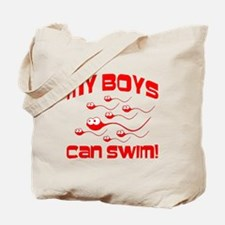 My Boys Can Swim Seinfield Tote Bag