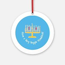 Veggie Hanukkah Ornament (Round)