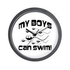 My Boys Can Swim Seinfield Wall Clock