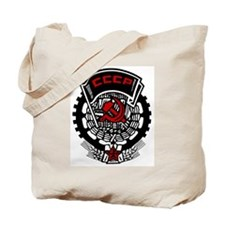 CCCP Commie Badge Tote Bag