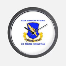 DUI - 1st BCT with Text Wall Clock