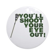 Lacrosse Lax Ornament (Round)