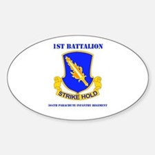 DUI - 1st Bn - 504th PIR with Text Sticker (Oval)
