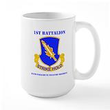 1st battalion 504th pir Large Mugs (15 oz)