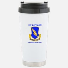 DUI - 1st Bn - 504th PIR with Text Travel Mug