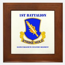 DUI - 1st Bn - 504th PIR with Text Framed Tile