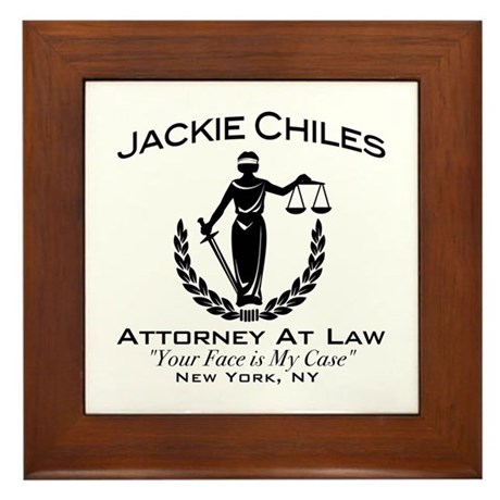 Jackie Chiles Attorney Seinfield Framed Tile