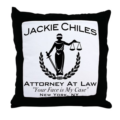 Jackie Chiles Attorney Seinfield Throw Pillow