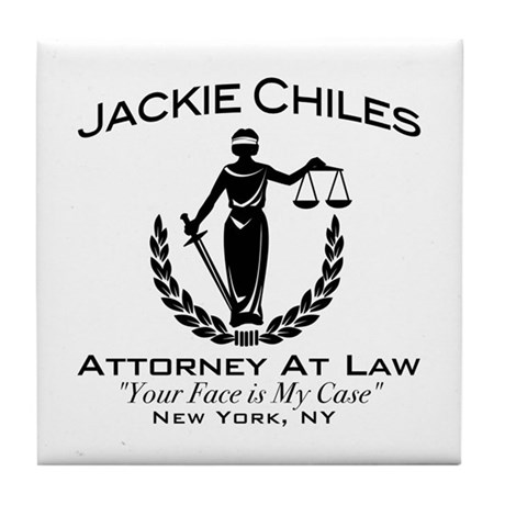 Jackie Chiles Attorney Seinfield Tile Coaster
