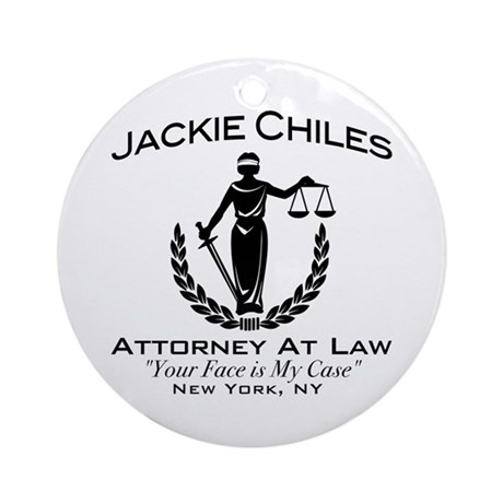 Jackie Chiles Attorney Seinfield Ornament (Round)