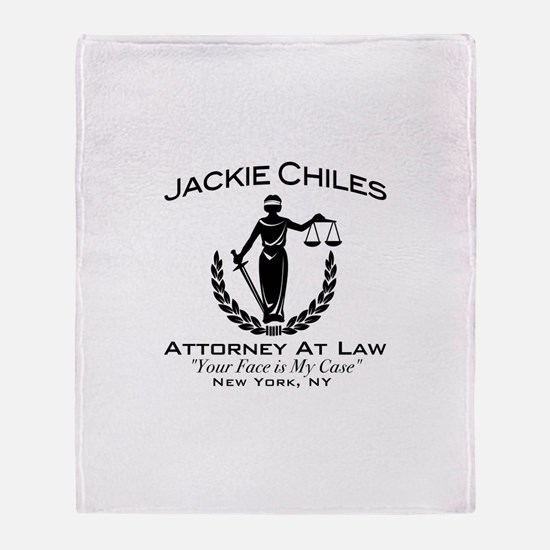 Jackie Chiles Attorney Seinfield Throw Blanket