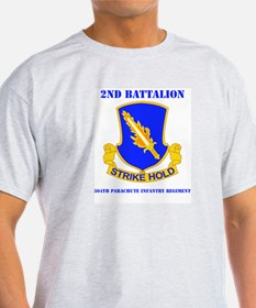 DUI - 2nd Bn - 504th PIR with Text T-Shirt
