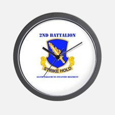 DUI - 2nd Bn - 504th PIR with Text Wall Clock