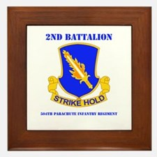 DUI - 2nd Bn - 504th PIR with Text Framed Tile