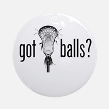 Got Balls Lacrosse Ornament (Round)
