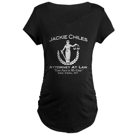 Jackie Chiles Attorney Seinfield Maternity Dark T-