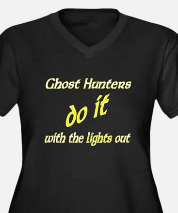 Ghost Hunters Do It Lights Out Women's Plus Size V