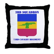 DUI - 3rd Sqdrn - 73rd Cavalry Regt with Text Thro