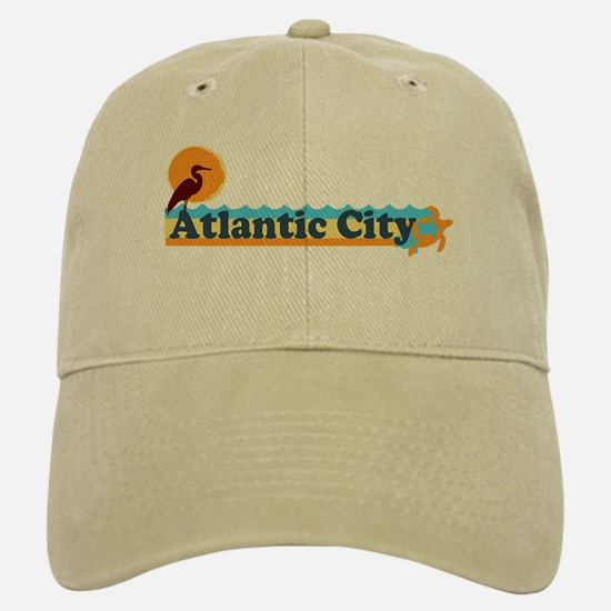 Atlantic City NJ - Beach Design. Baseball Baseball Cap
