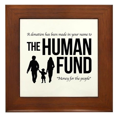 The Human Fund Seinfield Framed Tile