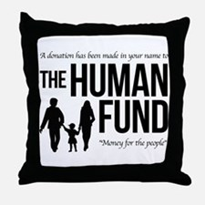 The Human Fund Seinfield Throw Pillow