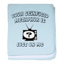 Seinfield Metaphor baby blanket