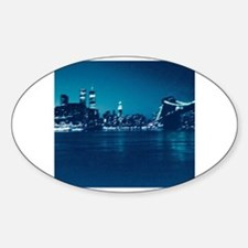 Cute Manhattan Sticker (Oval)