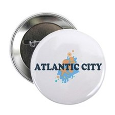 "Atlantic City NJ - Seashells Design. 2.25"" Button"