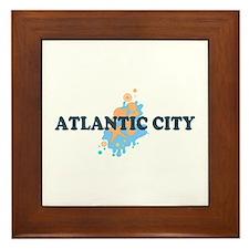 Atlantic City NJ - Seashells Design. Framed Tile