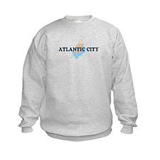 Atlantic City NJ - Seashells Design. Sweatshirt