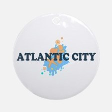 Atlantic City NJ - Seashells Design. Ornament (Rou