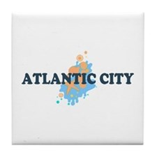 Atlantic City NJ - Seashells Design. Tile Coaster