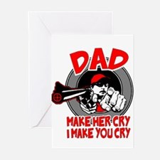 Unique Dads against daughter dating Greeting Cards (Pk of 10)