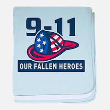 9-11 fireman firefighter baby blanket