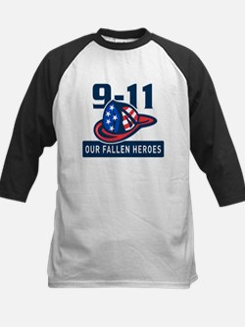 9-11 fireman firefighter Kids Baseball Jersey