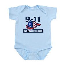 9-11 fireman firefighter Infant Bodysuit