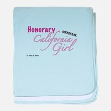 Cute California girl baby blanket
