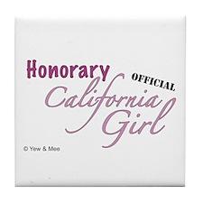 Unique California girl Tile Coaster
