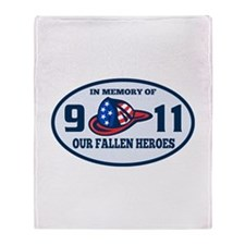 9-11 fireman firefighte Throw Blanket